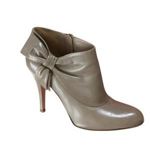 Valentino Shoes - VALENTINO TAUPE GRAY BOW STILETTO BOOT/BOOTIES